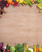 picture of maize  - studio photography of different fruits and vegetables on wooden table - JPG
