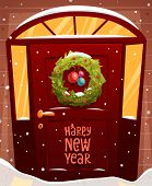 pic of christmas wreath  - Door Christmas Decoration - JPG