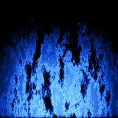 stock photo of plasmatic  - Blue burning fire generated texture or background - JPG