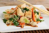 picture of stir fry  - vegetarian tofu and mixed vegetable stir fry - JPG