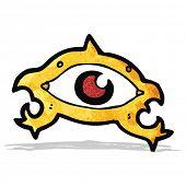 foto of all seeing eye  - cartoon all seeing eye - JPG