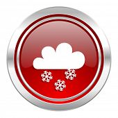 snowing icon, waether forecast sign  poster