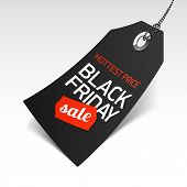image of special day  - Black Friday Sale price tag - JPG