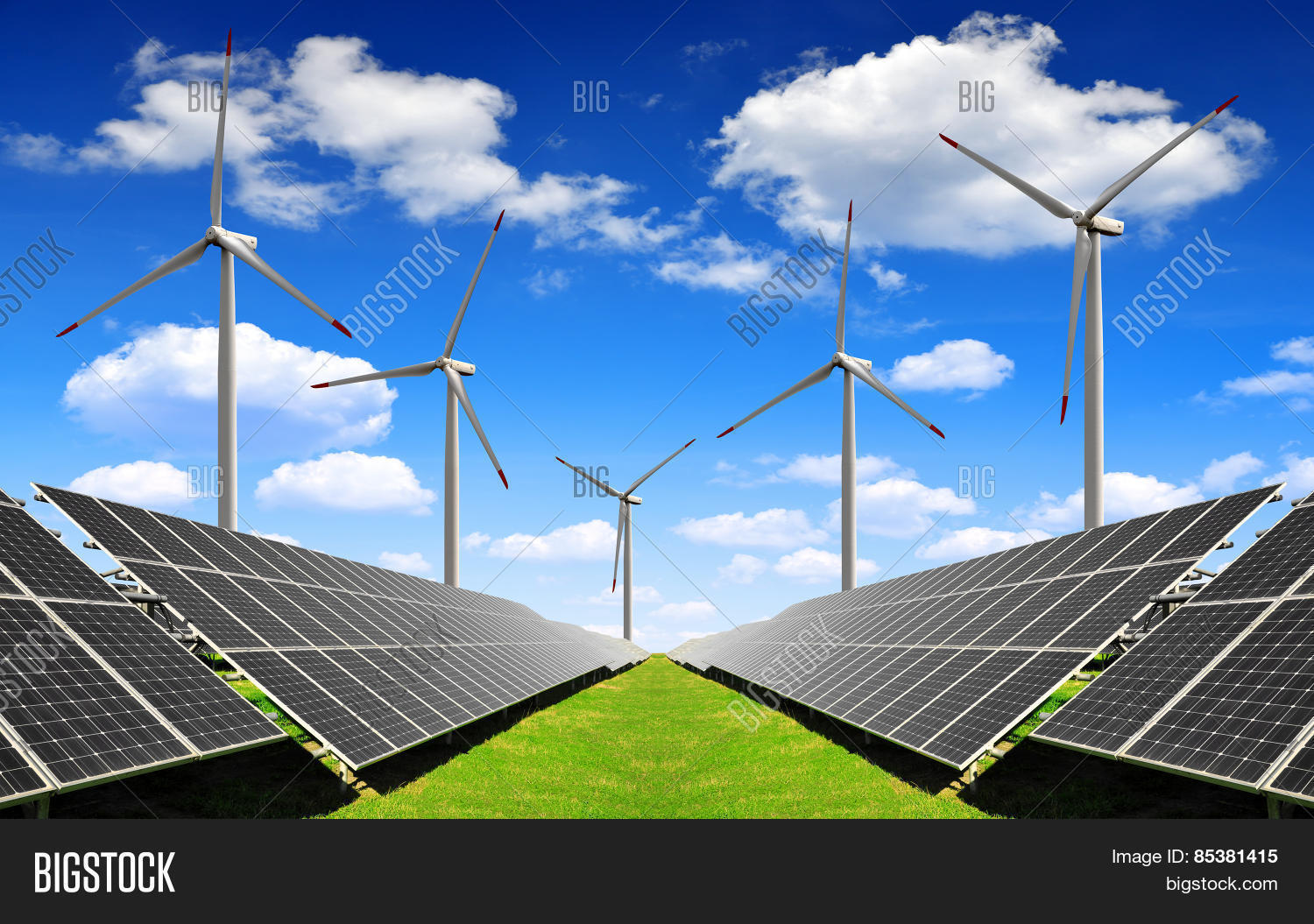 Simple Solar Energy Panels And Wind Turbines Throughout Decorating Ideas