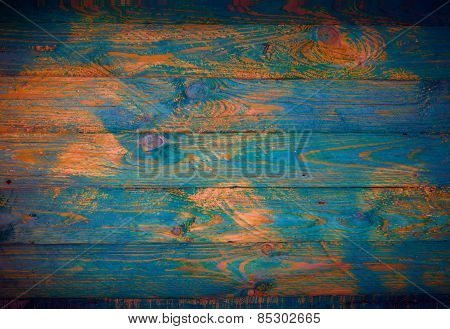 Old Colored Wooden Surface