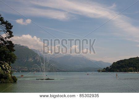Spout in a lake