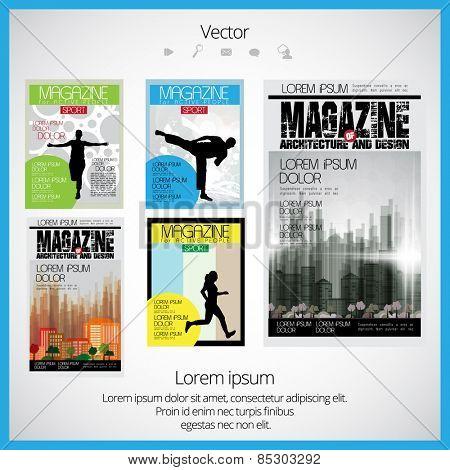 Sport cover vector illustration