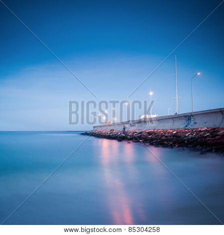 Pier on the Black Sea
