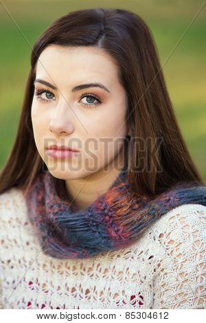 Serious Teen Staring