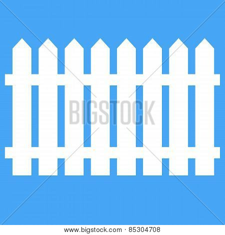 Icon Fence On A Blue Background. Vector Illustration.