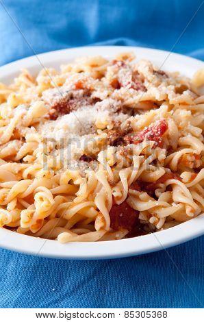 Pasta Fusilli, A Vegetarian Tomato Sauce