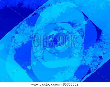 Blue Oval Shapes Fractal