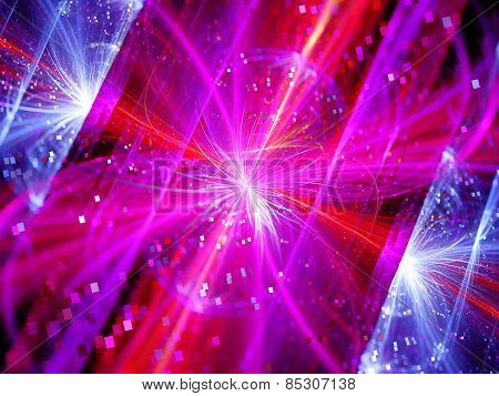 Colorful Multidimensional Energy Field With Particles