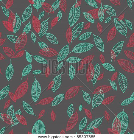 Vector Flying Leaves Background