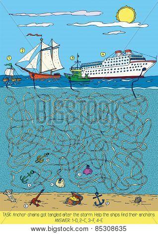 Ships Maze Game