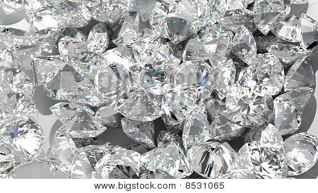 Diamond Background. Large Group Of Jewels
