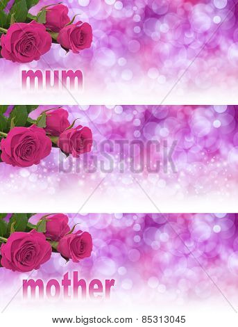 3 x Mother's Day Website Banners