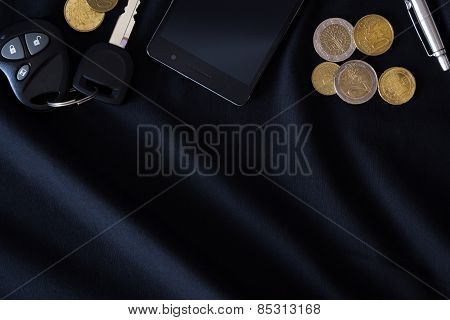 men's pocket content on a black background