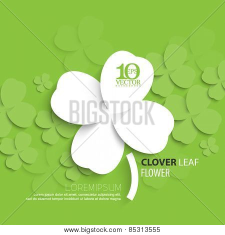 eps10 vector overlapping silhouette clover leaf background