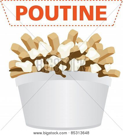 Poutine fast food meal from canada