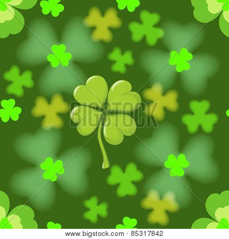 Seamless texture of the four leaf clover.