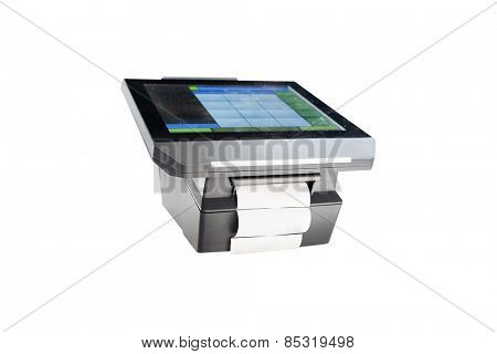 Slim profile touchscreen point of sale terminal