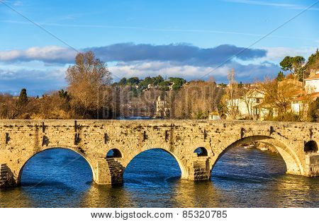 The Pont Vieux, A Bridge Over The Orb In Beziers, France