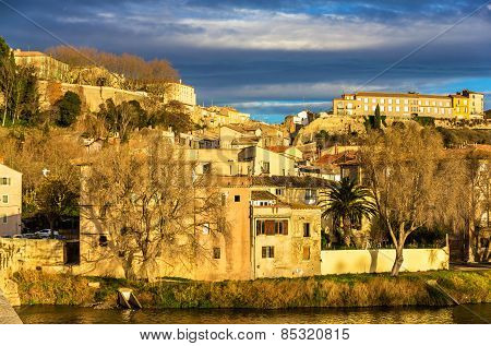 View Of The Old Town Of Beziers - France