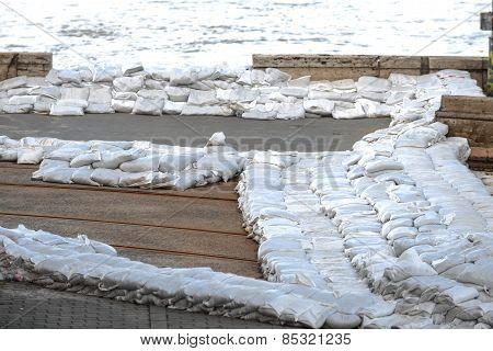 White sandbags