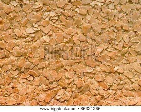 Almond Florentine Biscuit Food Background
