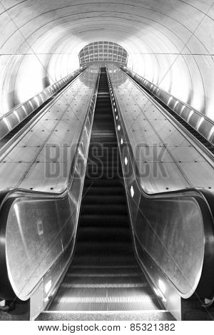 Washington, DC Metro Station Escalator
