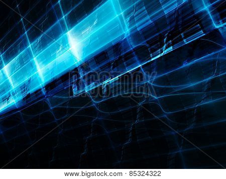 Dynamic blue and black background