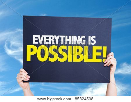 Everything is Possible card with sky background