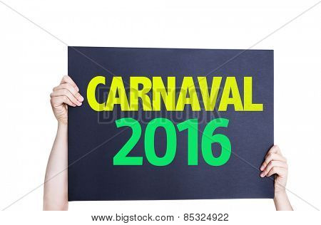 Carnaval 2016 card isolated on white