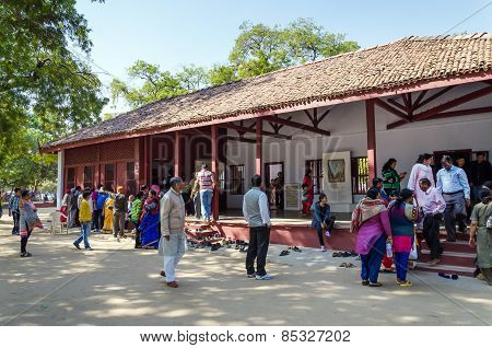 Ahmedabad, India - December 28, 2014: Tourist Visit House Of Mahatma And Kasturba Gandhi