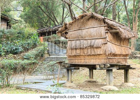 Aboriginal Taiwanese Home At The Taiwan Indigenous People Cultural Park In Pintung County, Taiwan