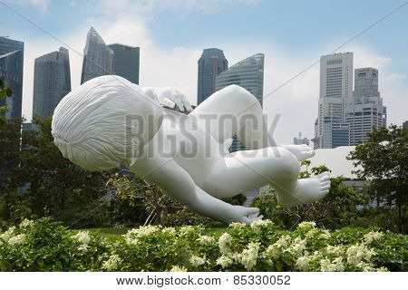 SINGAPORE - JANUARY 27, 2015: Sculpture