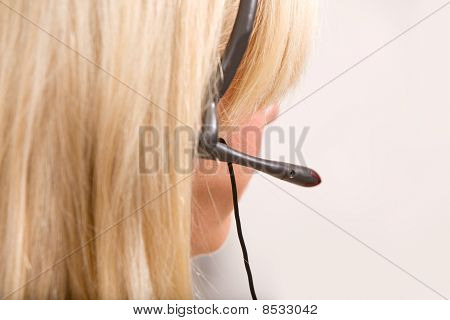 Receptionist Headset Detail