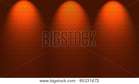 Spotlights Shining Down Onto Wall
