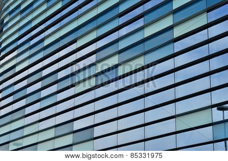 Modern glass building close-up