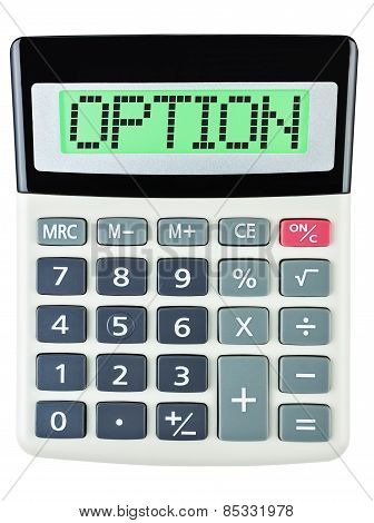 Calculator With Option