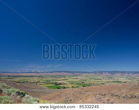 Washington state mountains and desert