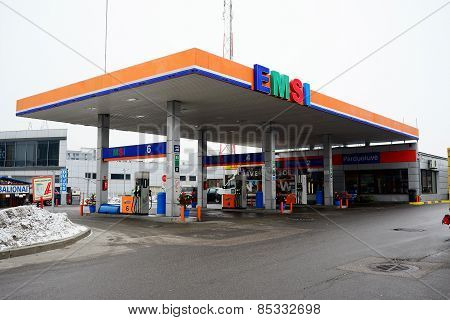 Emsi Fuel Station In The Vilnius City Pasilaiciai District