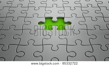 One Puzzle Piece Missing