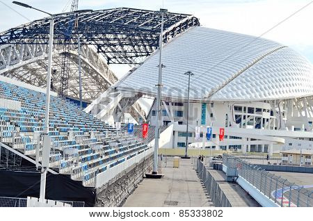 Fisht Olympic Stadium under reconstruction for 2018 FIFA World Cup