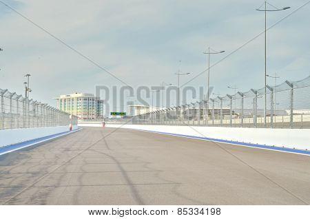 Formula 1 Grand Prix track in Sochi,Russia