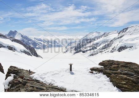 iron pole in Jungfrau mountain