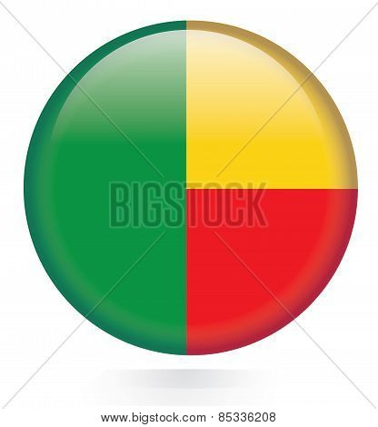 Benin flag button