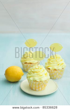 Three Lemon Cupcakes