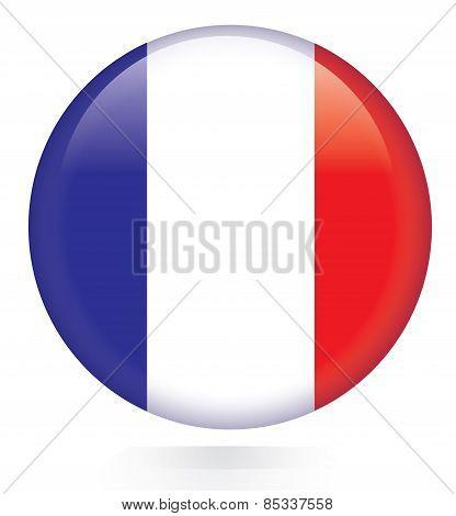 France flag button
